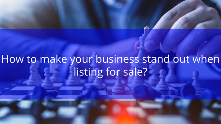 Read more about the article How to make your business stand out when listing for sale?